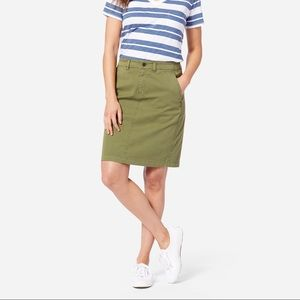 J. Crew Factory Green Khaki Skirt